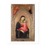 Madonna y niño (el panel) 3 tarjetas postales