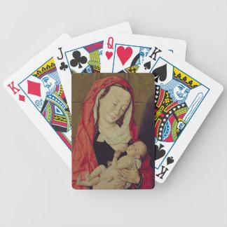 Madonna y niño (el panel) barajas de cartas