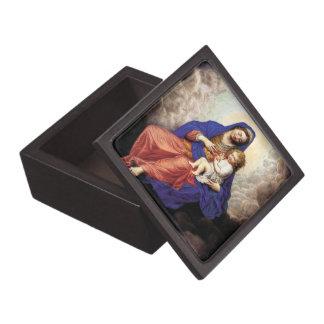 Madonna y niño en gloria cajas de joyas de calidad