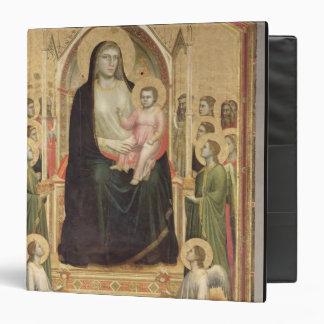 """Madonna y niño Enthroned, c.1300-03 (PRE-restor Carpeta 1 1/2"""""""