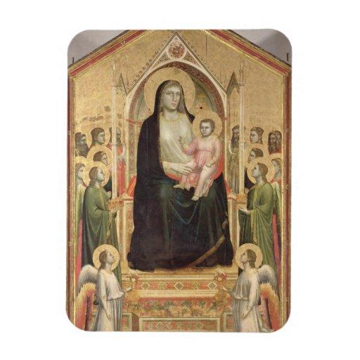 Madonna y niño Enthroned, c.1300-03 (PRE-restor Iman Rectangular
