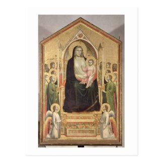 Madonna y niño Enthroned, c.1300-03 (PRE-restor Postal
