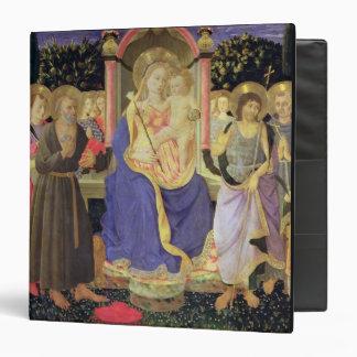 """Madonna y niño enthroned con los santos (altarpiec carpeta 1 1/2"""""""