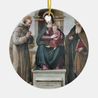 Madonna y niño Enthroned con los santos Ornamentos De Reyes