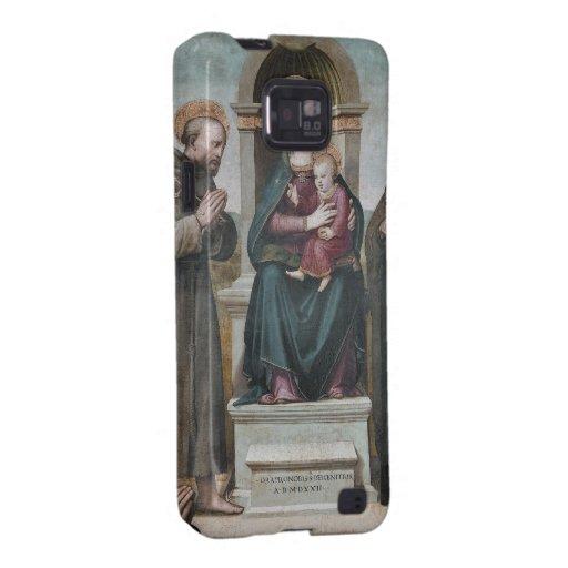 Madonna y niño Enthroned con los santos Galaxy SII Fundas
