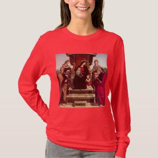 Madonna y niño Enthroned con los santos por el Playera