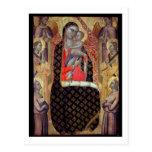 Madonna y niño enthroned con seis ángeles (el tarjetas postales