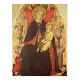Madonna y niño Enthroned con Vulciano dispensador Tarjetas Postales