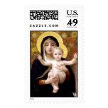 Madonna y niño franqueo