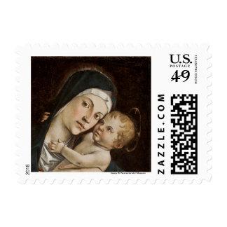 Madonna y niño - franqueo del día de fiesta sellos