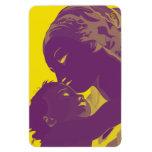 Madonna y niño imanes rectangulares