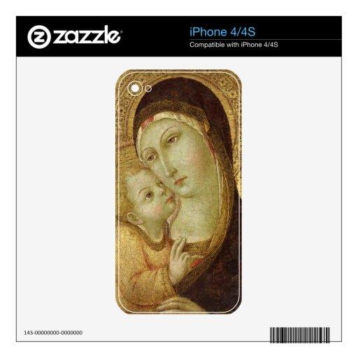 Madonna y niño iPhone 4 skins