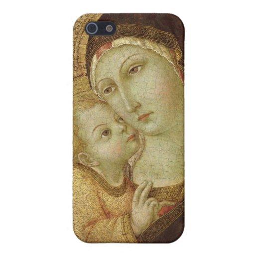 Madonna y niño iPhone 5 funda
