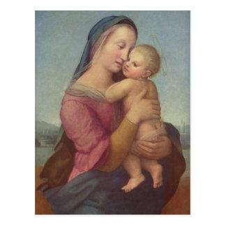Madonna y niño (los tempos Madonna) por Raphael Postales