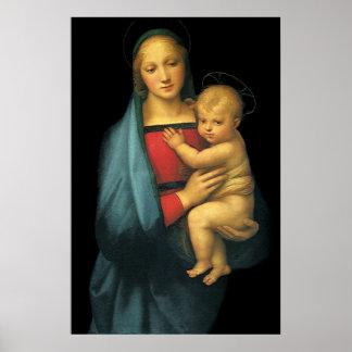 Madonna y niño, Madonna del Granduca por Raphael Posters