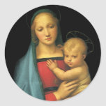 Madonna y niño, Madonna del Granduca por Raphael Pegatina Redonda