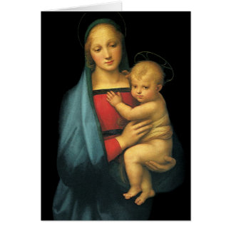Madonna y niño, Madonna del Granduca por Raphael Tarjeta De Felicitación
