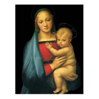 Madonna y niño, Madonna del Granduca por Raphael Tarjetas Postales