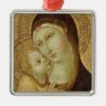 Madonna y niño ornamentos de reyes