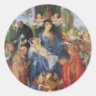 Madonna y niño pegatinas redondas