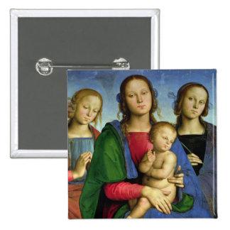 Madonna y niño pin cuadrada 5 cm