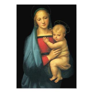 """Madonna y niño por Raphael, fiesta de bienvenida Invitación 5"""" X 7"""""""