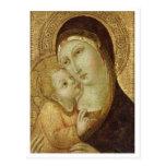 Madonna y niño postales