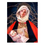 Madonna y niño. Postales del navidad de la bella a