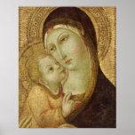 Madonna y niño póster