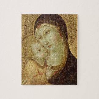 Madonna y niño rompecabeza con fotos