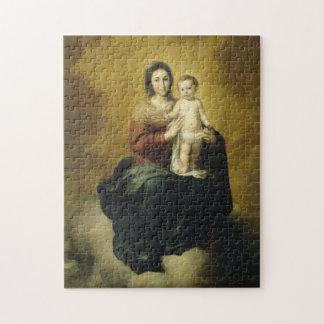Madonna y niño, rompecabezas Puzzl de la bella