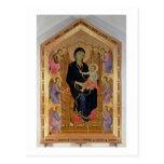 Madonna y niño (Rucellai Madonna) 1285 (tempera Postales