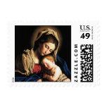 Madonna y niño sello