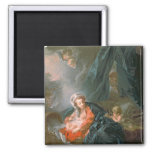 Madonna y niño, siglo XVIII Imán Cuadrado