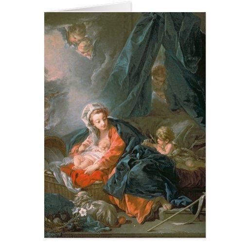 Madonna y niño, siglo XVIII Tarjeta De Felicitación