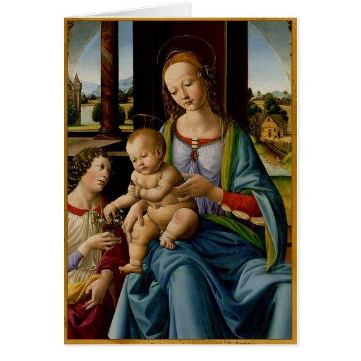 Madonna y niño tarjeta de felicitación