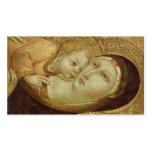 Madonna y niño tarjetas de visita