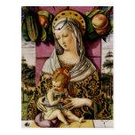 Madonna y niño tarjetas postales
