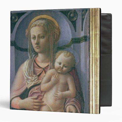 Madonna y niño (tempera en el panel)