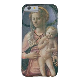 Madonna y niño (tempera en el panel) funda de iPhone 6 barely there