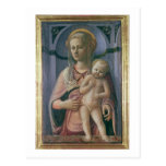 Madonna y niño (tempera en el panel) tarjeta postal