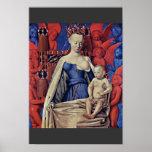Madonna y niño [Virgen con el niño y ángeles] ( Póster