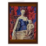 Madonna y niño [Virgen con el niño y ángeles] ( Tarjeta De Felicitación