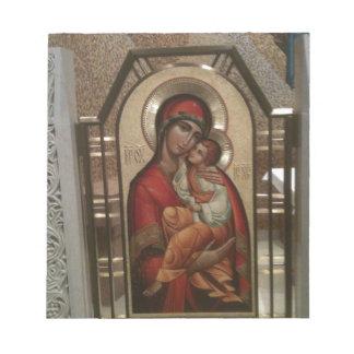 Madonna y niño; Virgen María Libreta Para Notas
