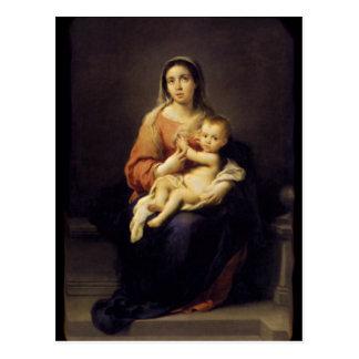 Madonna y niño - Virgen María - Murillo Postal