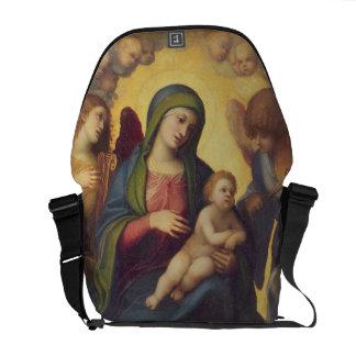 Madonna y niño y niño en la gloria, c.1520 (aceite bolsas de mensajería