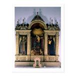 Madonna y niño y santos (altarpiece del tríptico) postal
