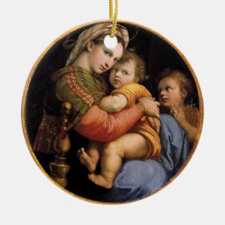 Madonna y ornamento del navidad del niño adornos de navidad