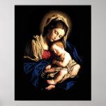 Madonna y poster del personalizado del niño