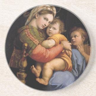 Madonna y práctico de costa del navidad del niño posavaso para bebida